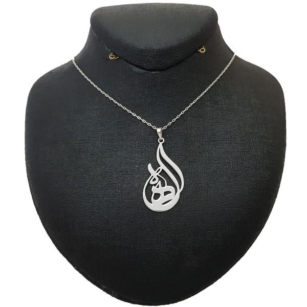 گردنبند نقره زنانه ترمه 1 طرح الهه کد e5