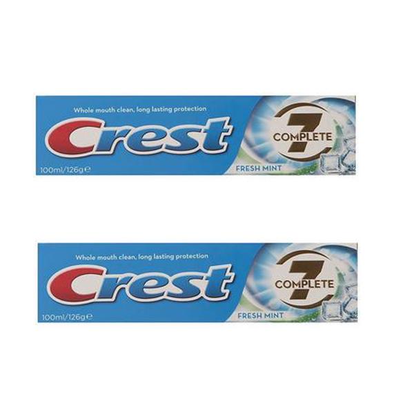 خمیر دندان کرست مدل C7 Fresh Mint حجم 100 میلی لیتر بسته 2 عددی
