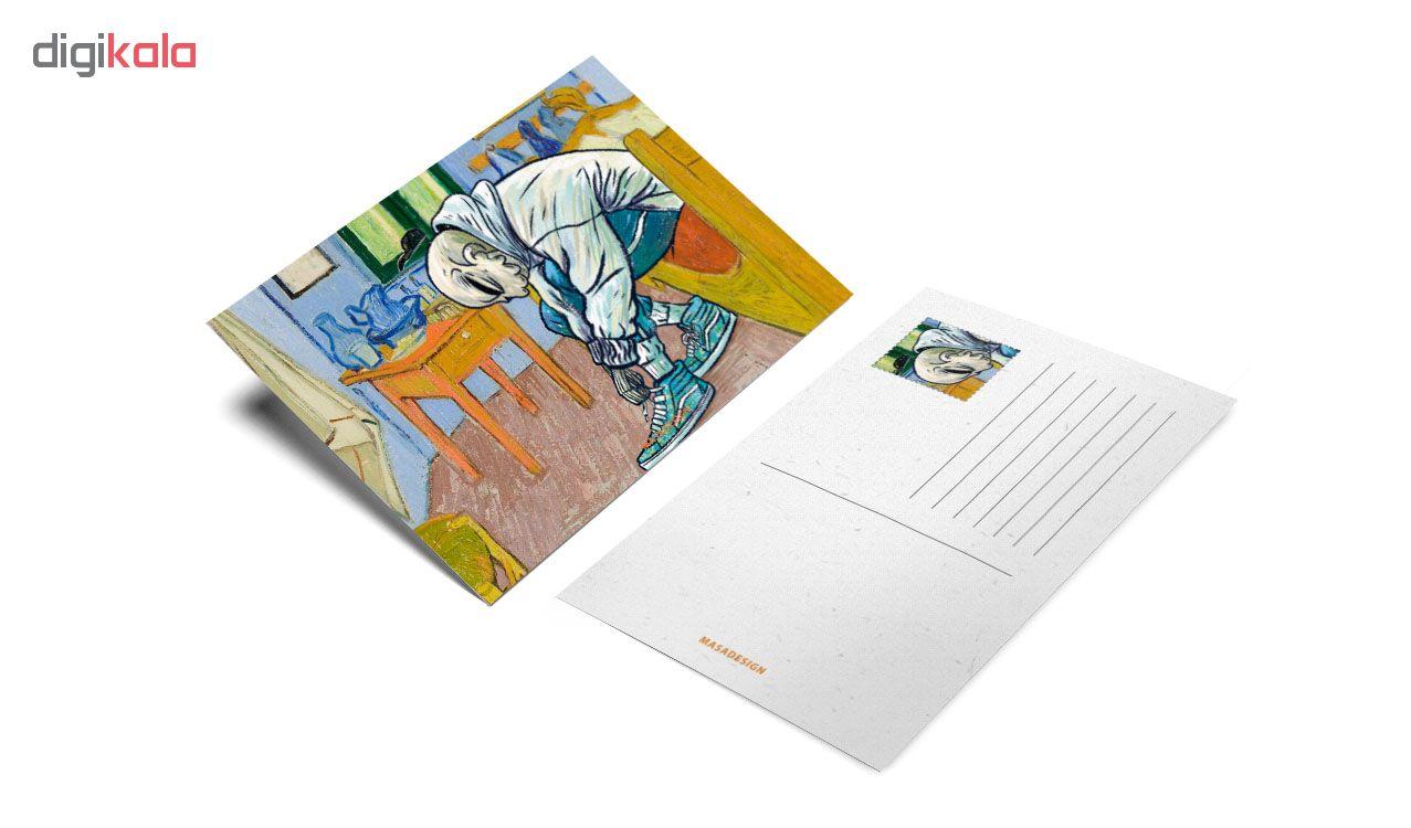 کارت پستال ماسا دیزاین طرح ونگوگ کد postv72