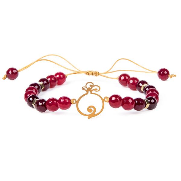 دستبند طلا 18 عیار زنانه طرح انار ریسه گالری کد Ri3-A1193
