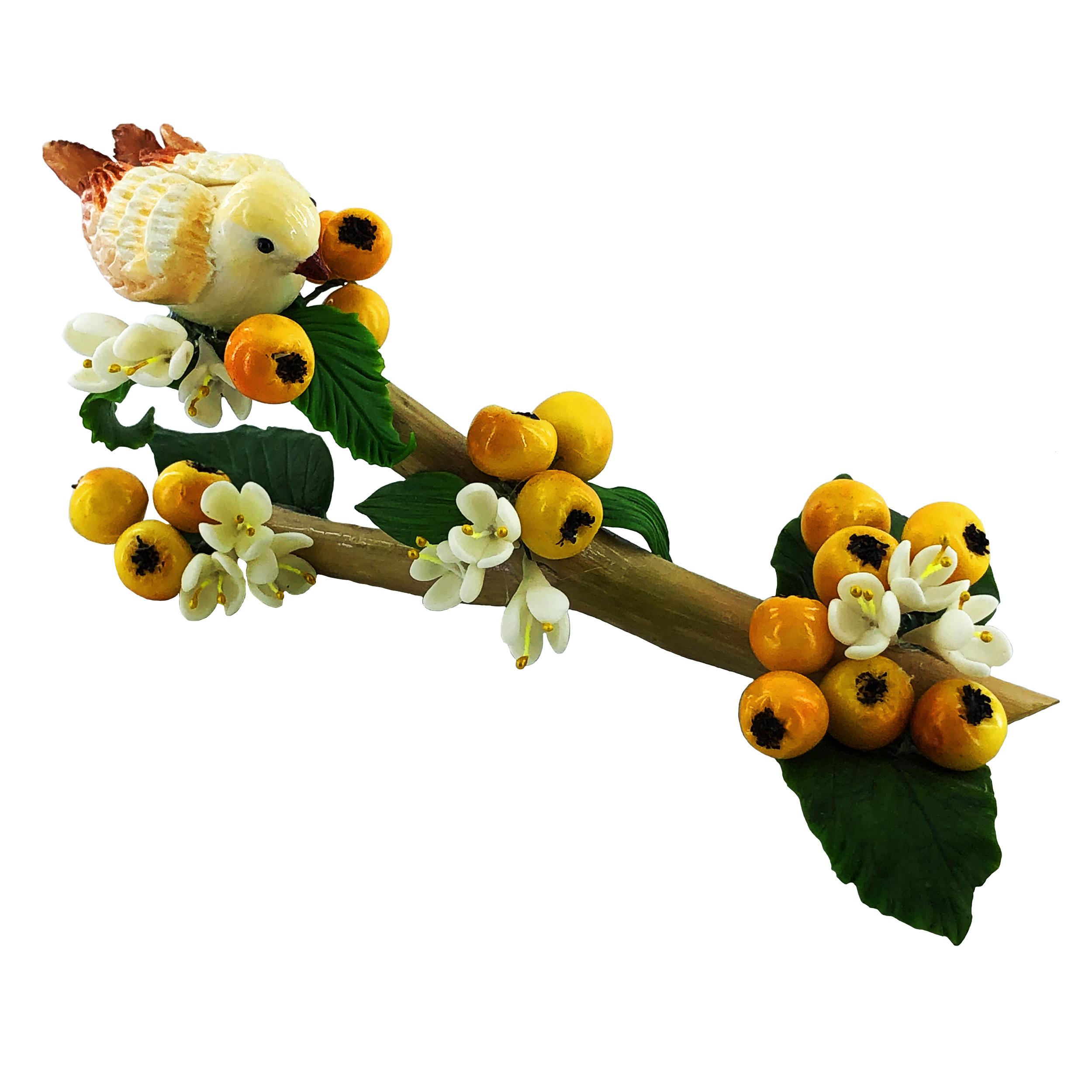 مجسمه طرح پرنده و شاخه درخت مدل GZ98393