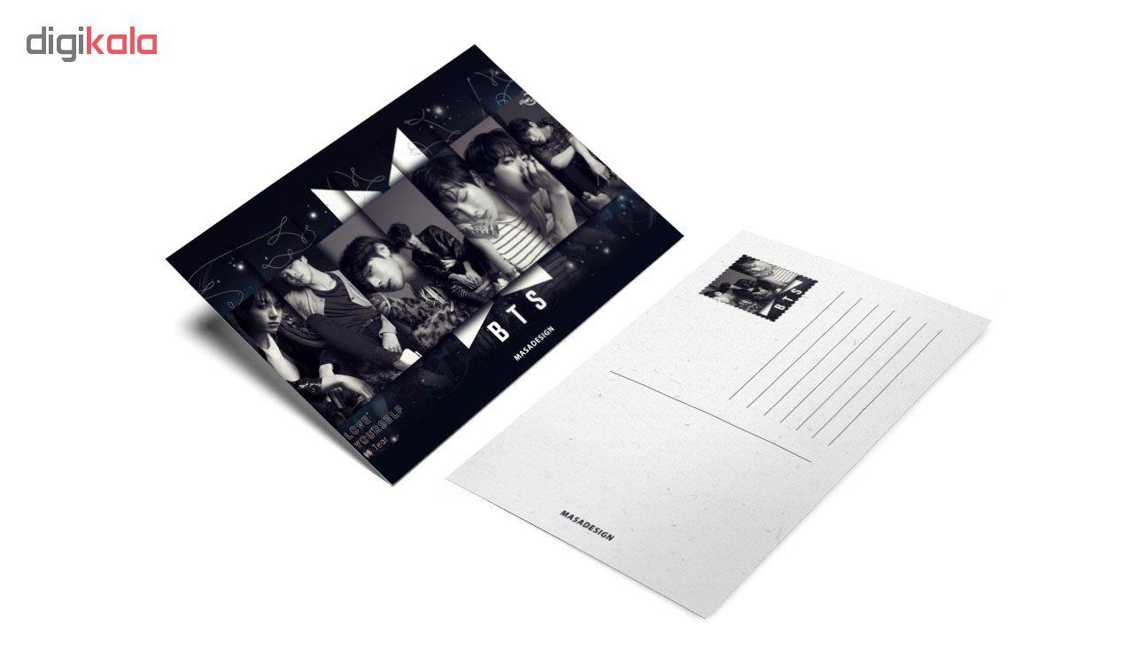 کارت پستال ماسا دیزاین طرح BTS کد postv73
