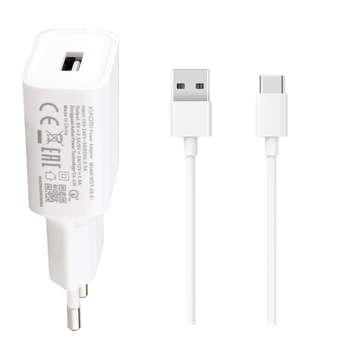شارژر دیواری مدل MDY-08-EI به همراه کابل تبدیل USB-C