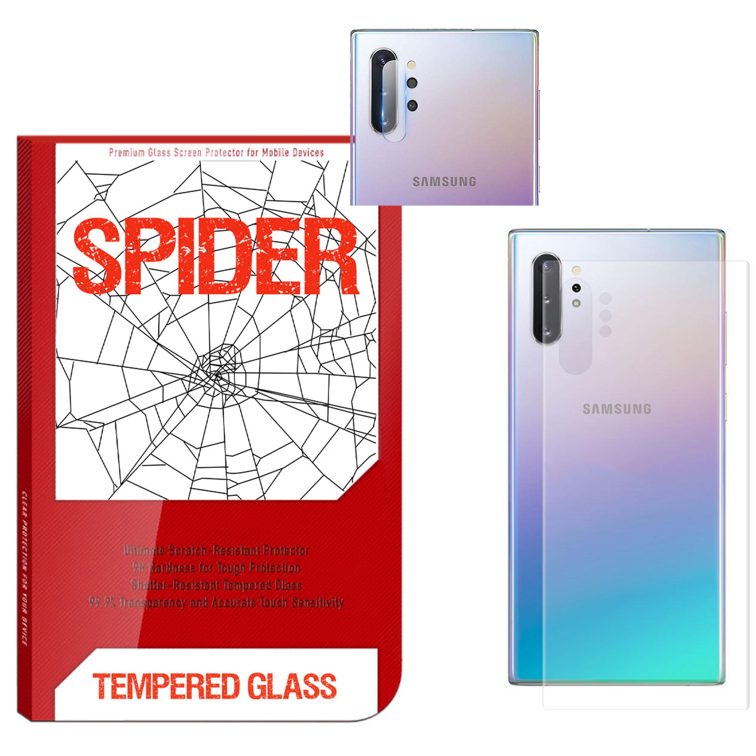 محافظ پشت گوشی اسپایدر مدل TPS-017 مناسب برای گوشی موبایل سامسونگ Galaxy Note 10 Plus به همراه محافظ لنز دوربین              ( قیمت و خرید)
