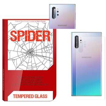 محافظ پشت گوشی اسپایدر مدل TPS-017 مناسب برای گوشی موبایل سامسونگ Galaxy Note 10 Plus به همراه محافظ لنز دوربین