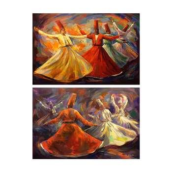 تابلو شاسی سری آثار برتر نقاشان دنیا کد TR1007 مجموعه 2 عددی