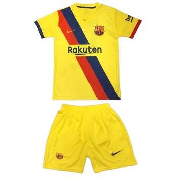 ست پیراهن و شورت ورزشی پسرانه طرح بارسلونا کد 22020