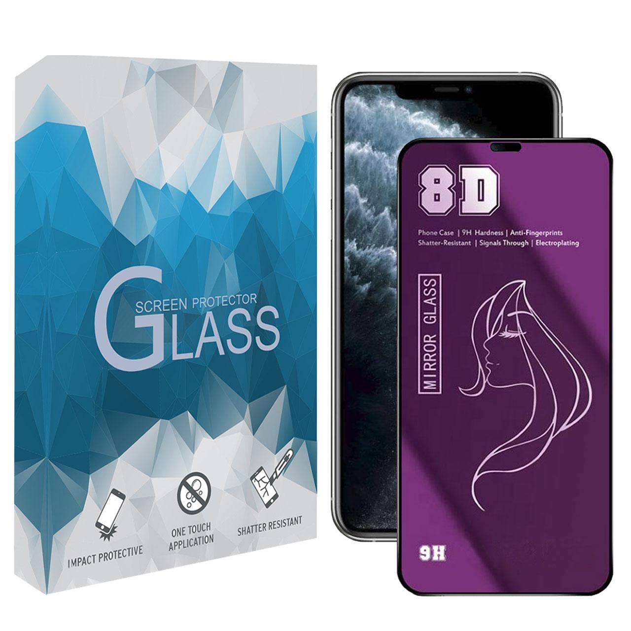 محافظ صفحه نمایش 8D مدل MBSP مناسب برای گوشی موبایل اپل iPhone 11 Pro Max
