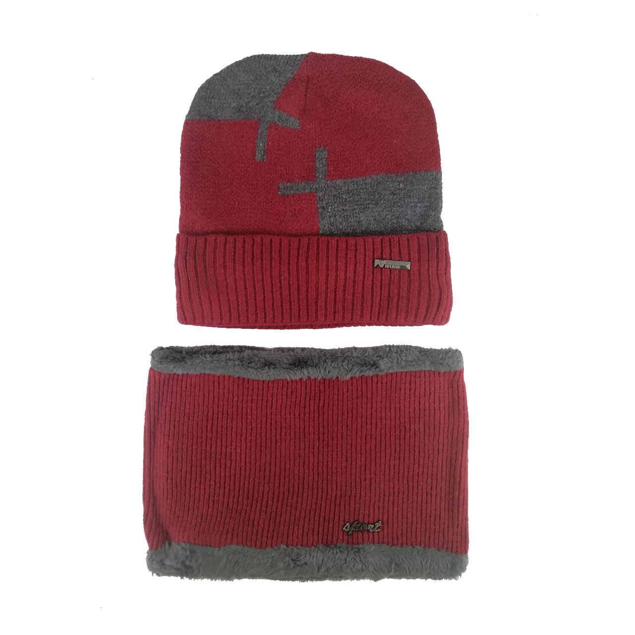ست کلاه و شال گردن بافتنی کد M170