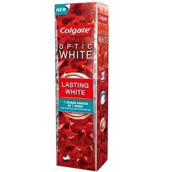 خمیر دندان کلگیت سری Optic White مدل lasting white حجم 75 میلی لیتر