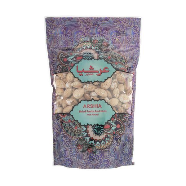 بادام با پوست ایرانی شور عرشیا مقدار 500 گرم