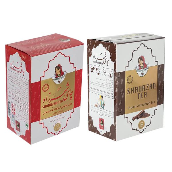 چای شهرزاد با طعم دارچین مقدار 500 گرم به همراه چای شهرزاد  کلکته هندوستان مقدار 500 گرم