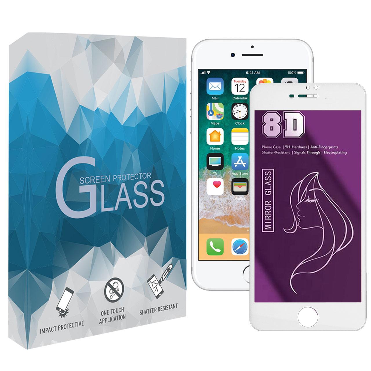 محافظ صفحه نمایش 8D مدل MWSP مناسب برای گوشی موبایل اپل iPhone 6 Plus / 6s Plus