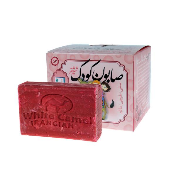 صابون بچه ایران گیاه مدل شیر شتر  وزن 100 گرم