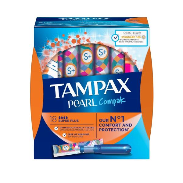 تامپون تامپکس مدل  Pearl compak بسته 18 عددی