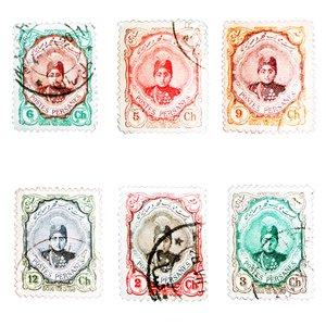 تمبر یادگاری مدل قاجار احمدی کد AHS6-123 مجموعه 6 عددی