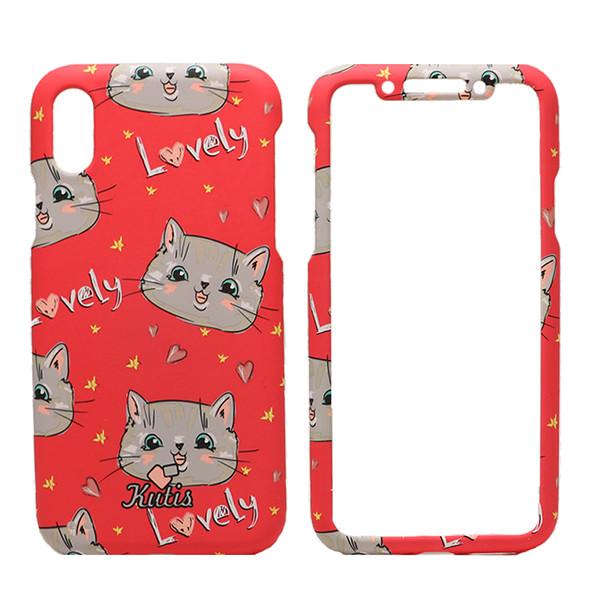 کاور 360 درجه کوتیس طرح Lovely Cat مناسب برای گوشی موبایل اپل iPhone X/Xs