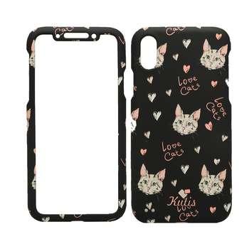 کاور 360 درجه کوتیس طرح Love Cat مناسب برای گوشی موبایل اپل iPhone X/Xs