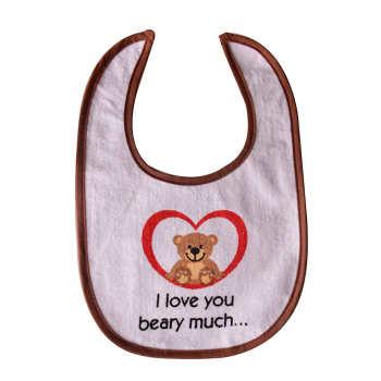پیشبند نوزاد طرح I Love beary