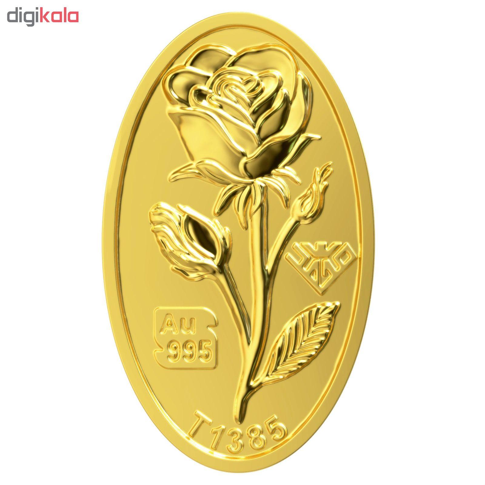 شمش طلا 24 عیار طلای محمد طرح گل رز کد 300 main 1 4