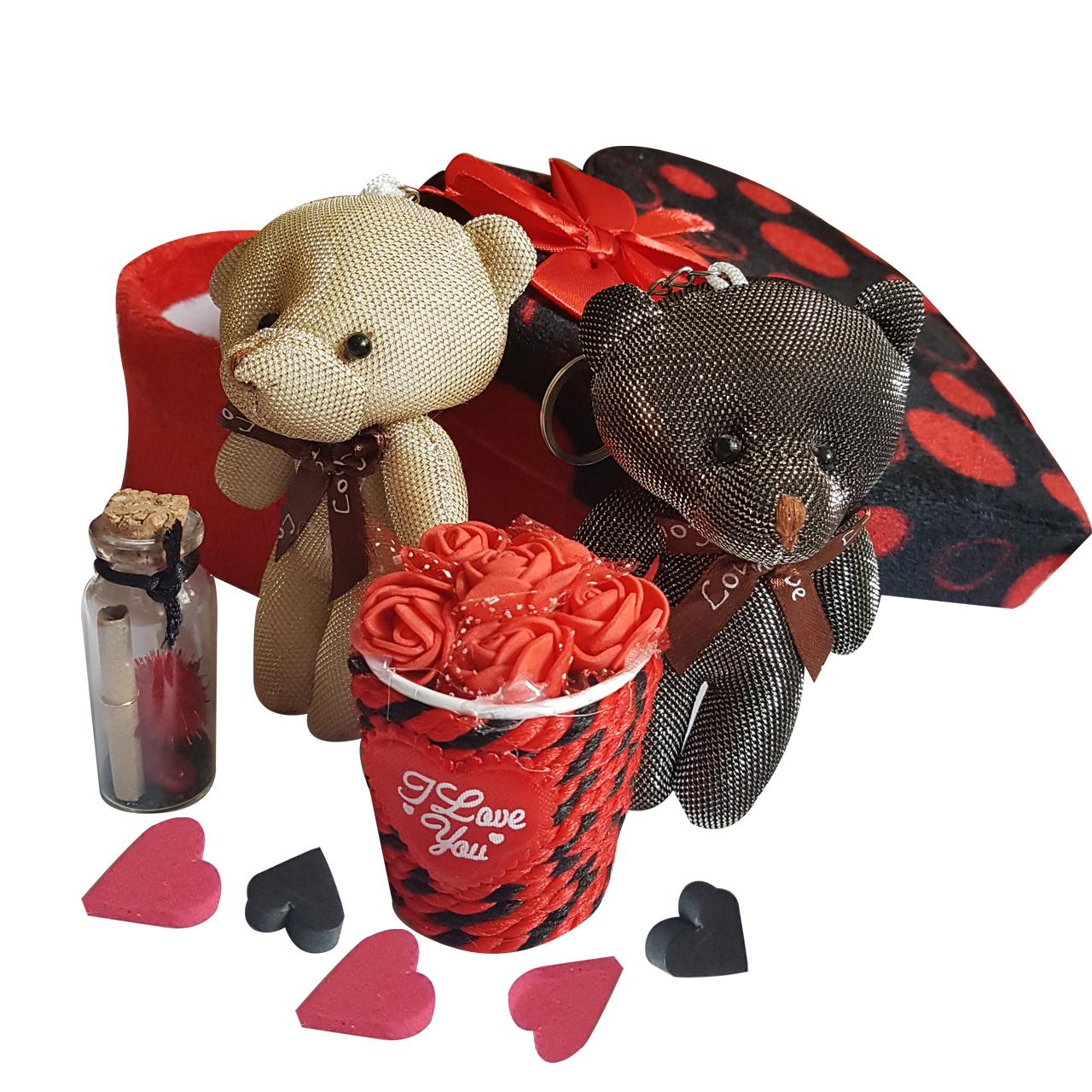 ست هدیه عروسک طرح خرس کد A-789