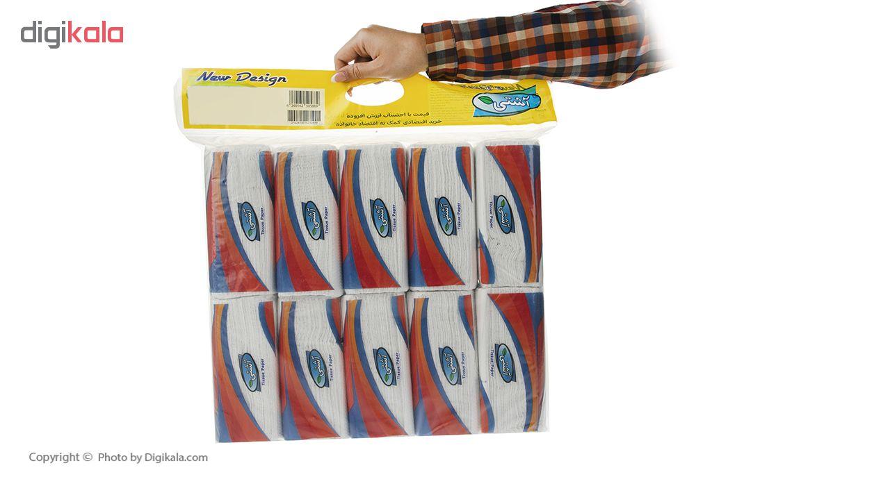 دستمال کاغذی 100 برگ آشتی بسته 10 عددی main 1 6