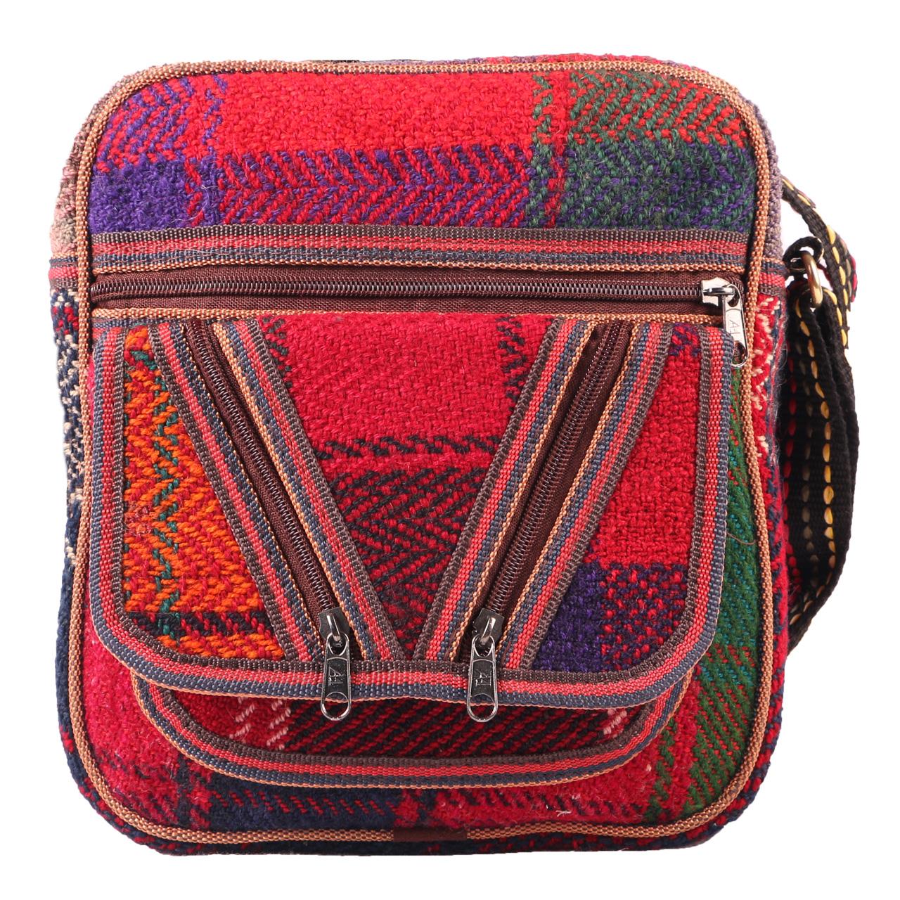 کیف رو دوشی جاجیم طرح گلیم مدل SO-5