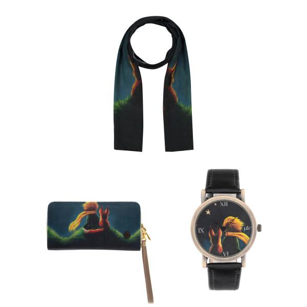 کیف پول زنانه میو مدل WB13 به همراه ساعت و شال