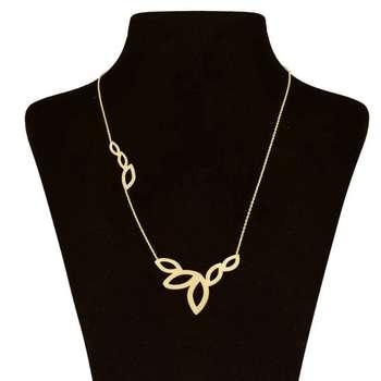 گردنبند طلا 18 عیار زنانه  طرح برگ کد UN0096