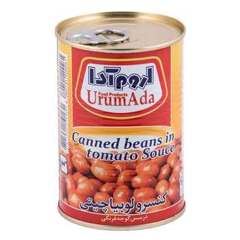 کنسرو لوبیا چیتی در سس گوجه فرنگی اروم آدا مقدار 400 گرم