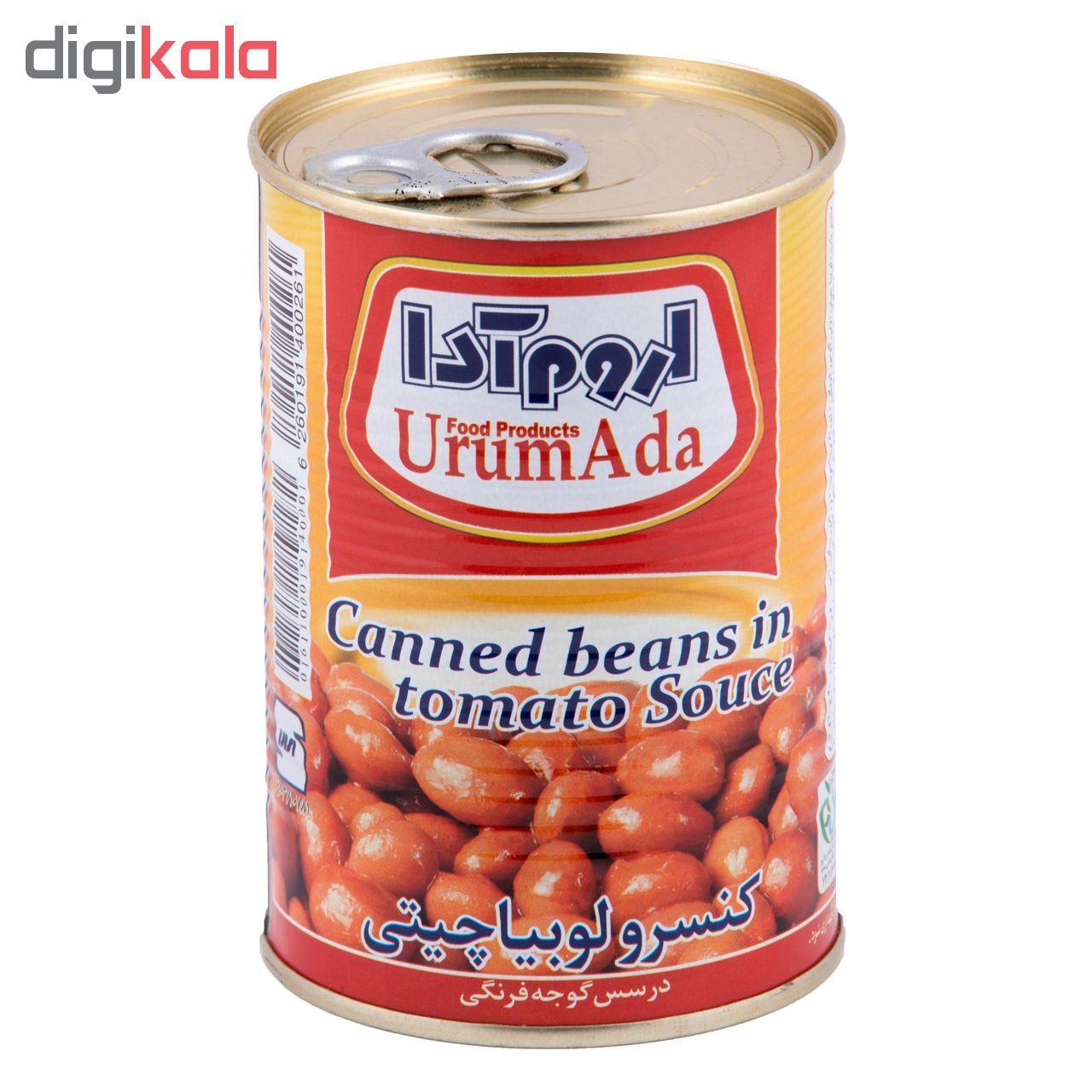 کنسرو لوبیا چیتی در سس گوجه فرنگی اروم آدا مقدار 400 گرم main 1 1