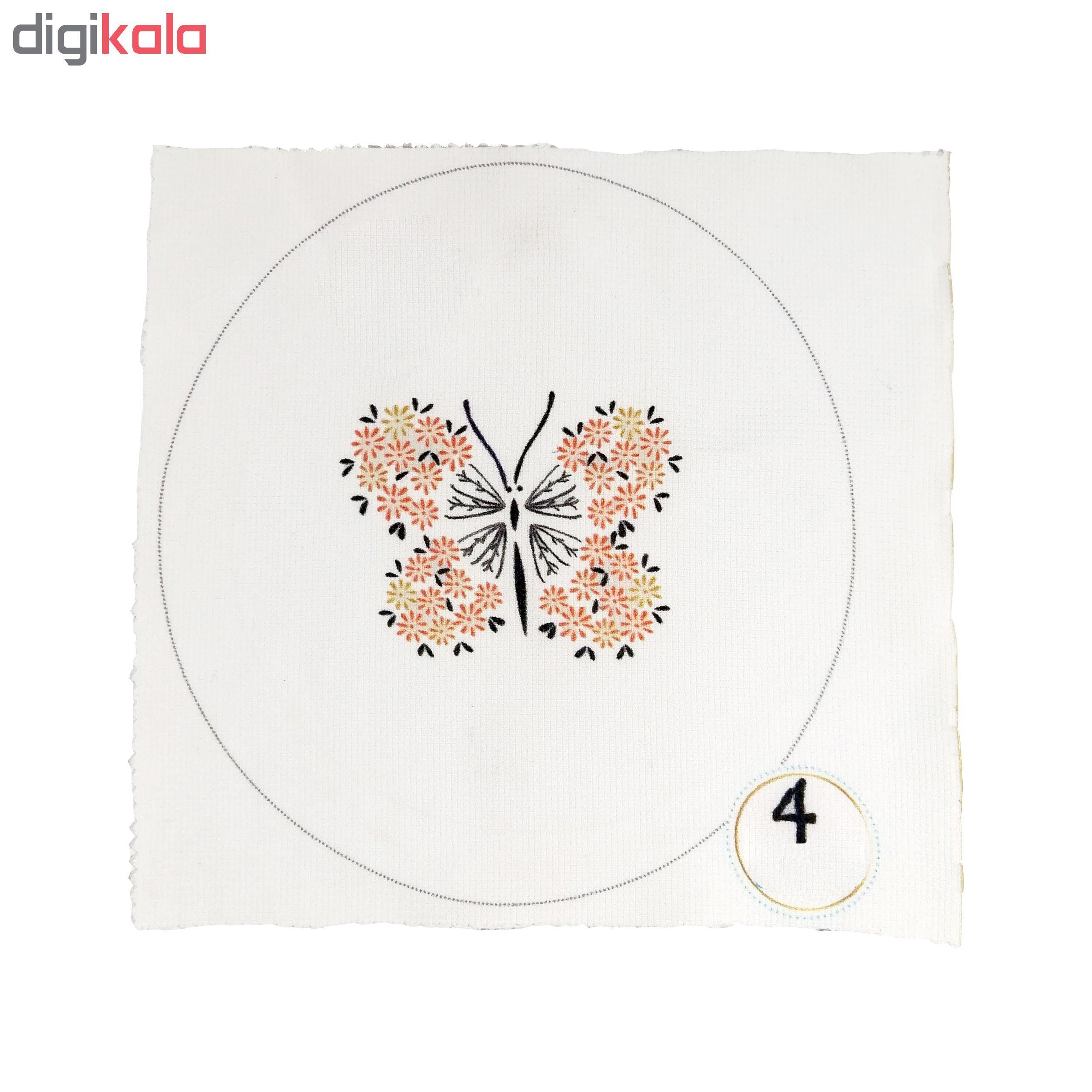 بسته گلدوزی طرح پروانه مجموعه 8 عددی