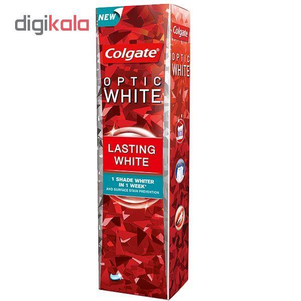 خمیر دندان کلگیت سری Optic White مدل lasting white حجم 75 میلی لیتر  main 1 1