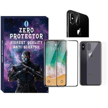 محافظ صفحه نمایش و پشت گوشی زیرو مدل FUZ-01 مناسب برای گوشی موبایل اپل Iphone XR به همراه محافظ لنز دوربین