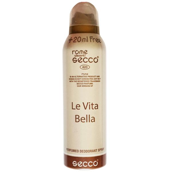 اسپری زنانه سکو مدل Le Vita Bella حجم 200 میلی لیتر