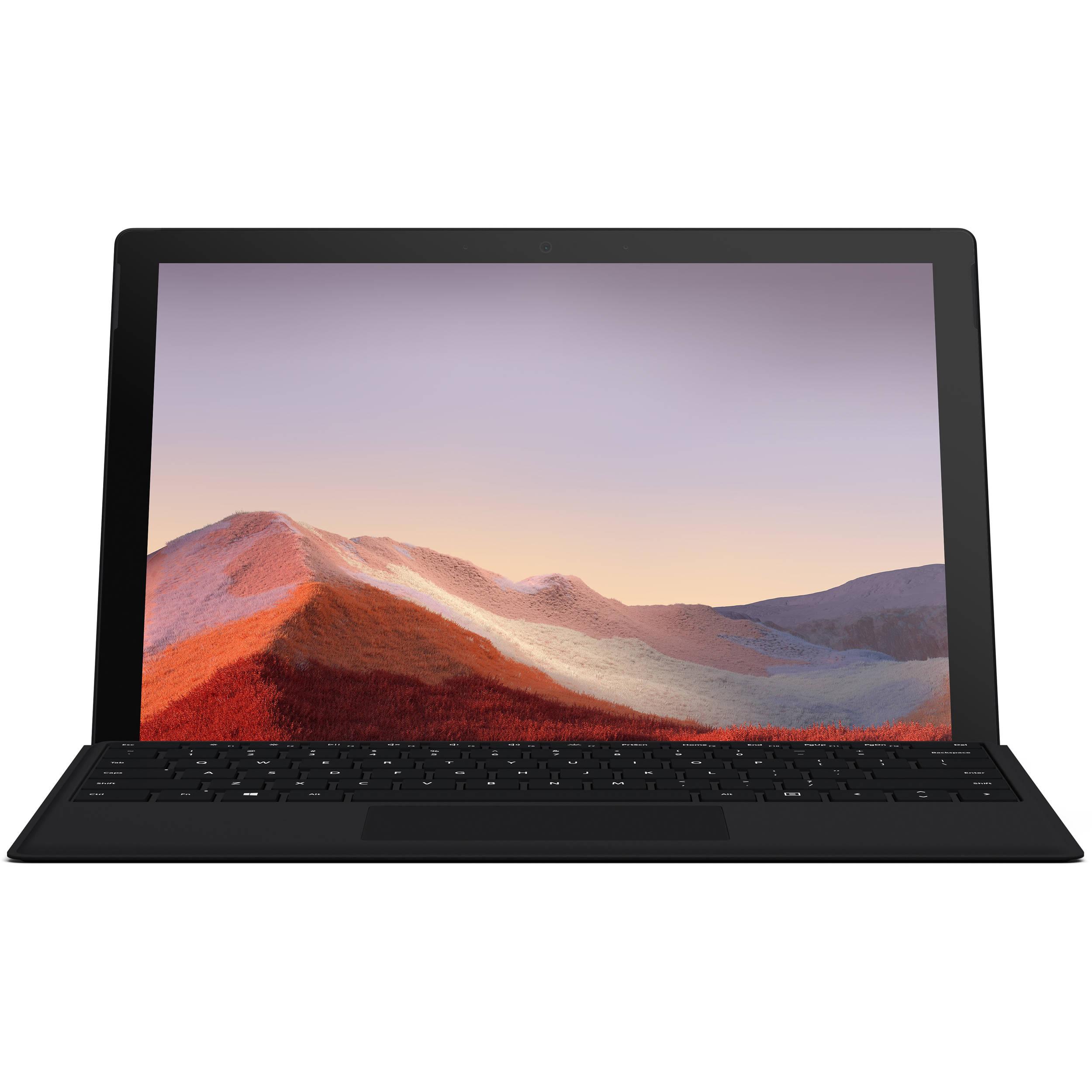 خرید ارزان تبلت مایکروسافت مدل Surface Pro 7 - C به همراه کیبورد Black Type Cover