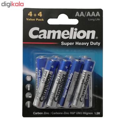باتری قلمی و نیم قلمی کملیون مدل Super Heavy Duty بسته 8عددی