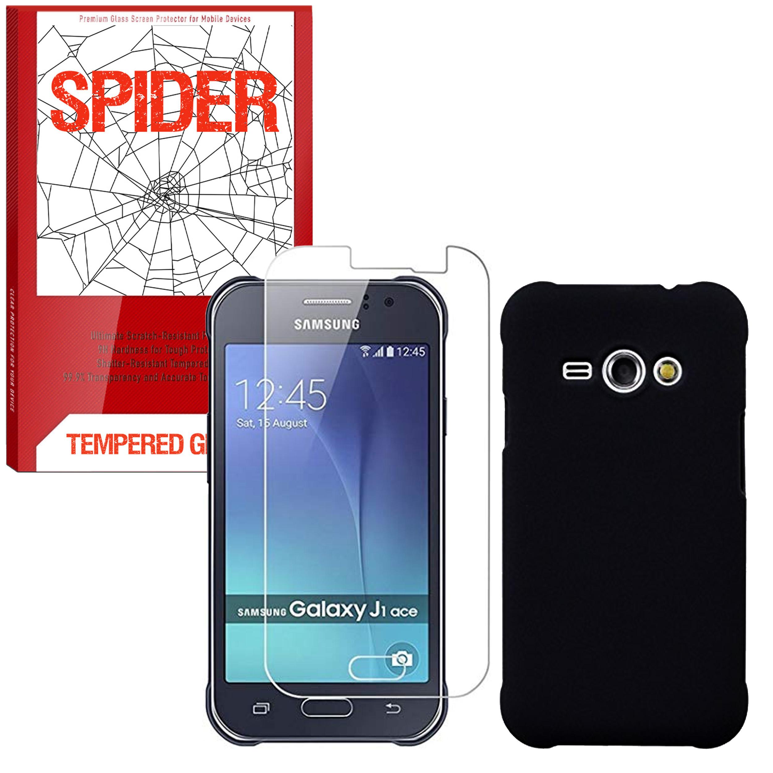 کاور مدل JEL-002 مناسب برای گوشی موبایل سامسونگ Galaxy J1 Ace به همراه محافظ صفحه نمایش اسپایدر مدلSDS