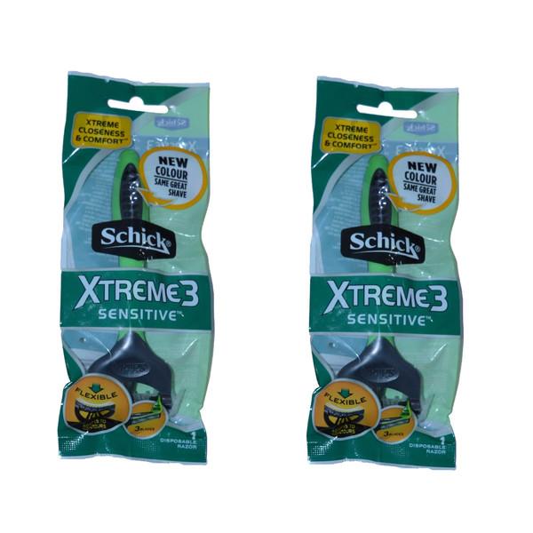 خود تراش شیک مدل xtreme3 sensitive مجموعه 2 عددی