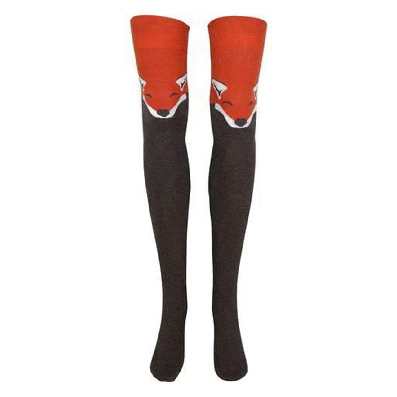 جوراب زنانه طرح روباه کد 020 -  - 2