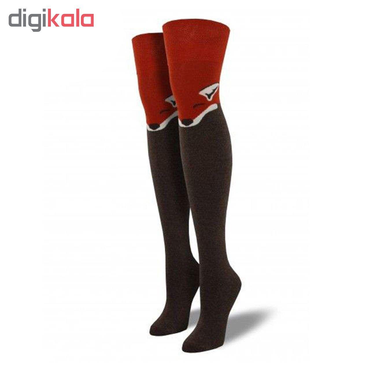 جوراب زنانه طرح روباه کد 020 -  - 3