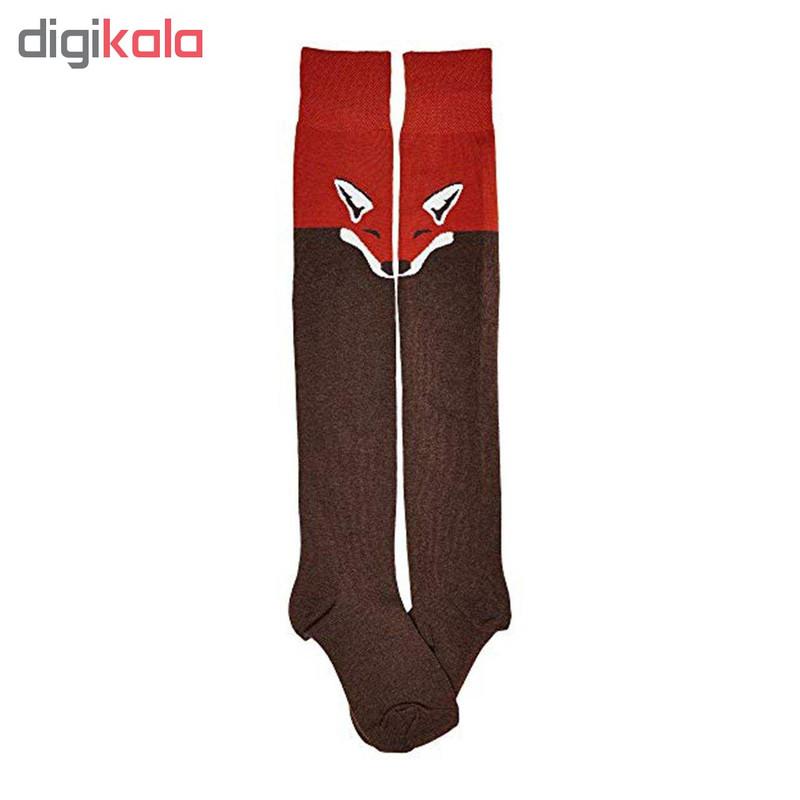 جوراب زنانه طرح روباه کد 020