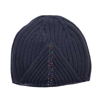 کلاه بافتنی زنانه تارتن مدل 0580 رنگ سرمه ای