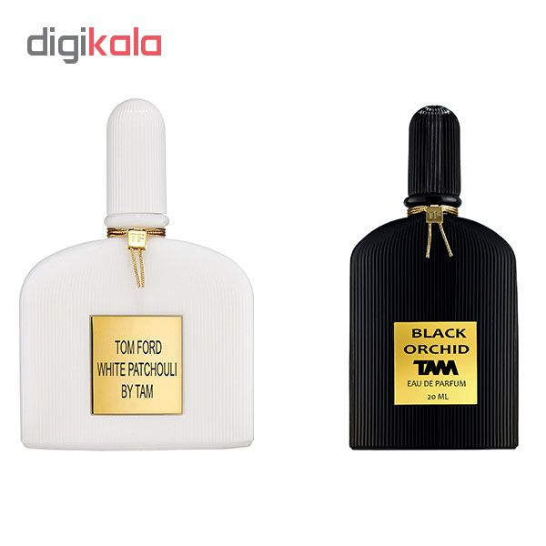 ادو پرفیوم مردانه تام مدل Black Orchid حجم 25 میلی لیتر به همراه ادو پرفیوم زنانه تام مدل White Patchouli حجم 25 میلی لیتر