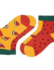 جوراب دخترانه طرح هندوانه بسته 2 عددی -  - 1