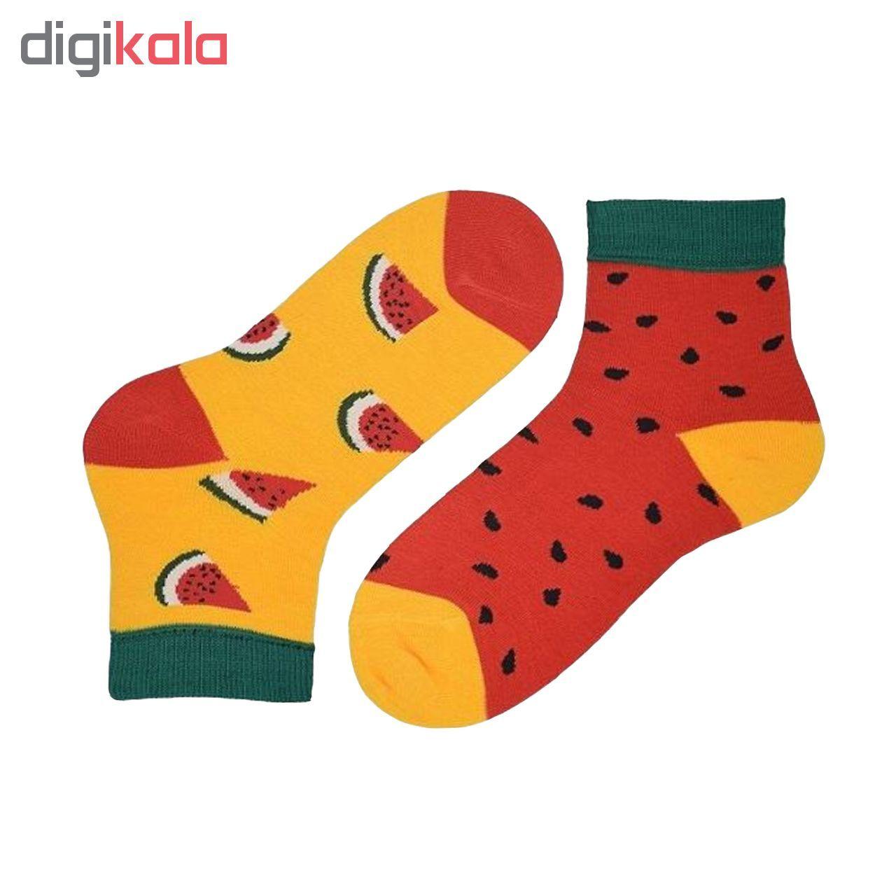 جوراب دخترانه طرح هندوانه بسته 2 عددی -  - 3