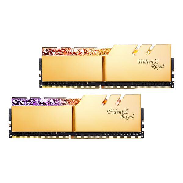 رم دسکتاپ DDR4 دو کاناله 3200 مگاهرتز CL16 جی اسکیل مدل Trident Z Royal Gold ظرفیت 16 گیگابایت