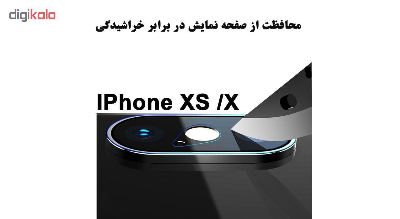 محافظ لنز دوربین لایونکس مدل UTFS مناسب برای گوشی موبایل اپل iPhone X بسته سه عددی main 1 4