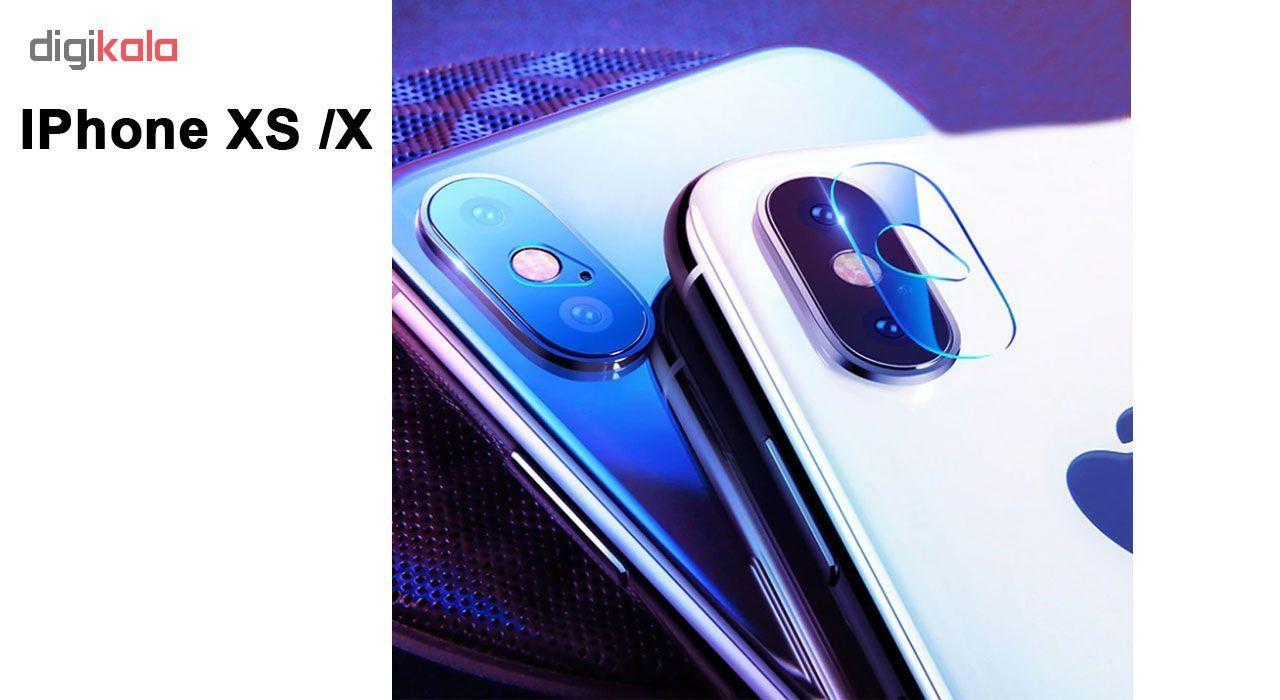 محافظ لنز دوربین لایونکس مدل UTFS مناسب برای گوشی موبایل اپل iPhone X بسته سه عددی main 1 5