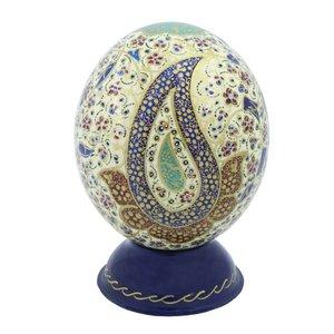 تخم شترمرغ تزئینی چرم حریر مدل S002